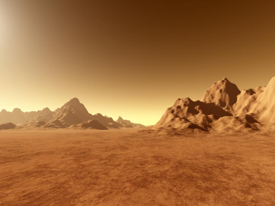 Вымышленный пейзаж Марса
