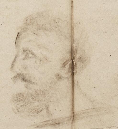 Предполагаемый портрет Сулакадзева, выполненный в 1826 году его сослуживцем В. Ф. Лазаревым-Станищевым