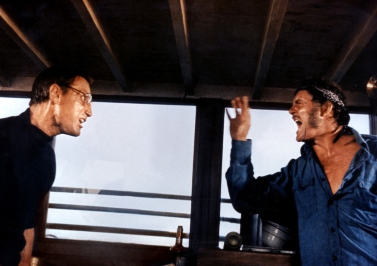 Кадр со съемок фильма «Челюсти»