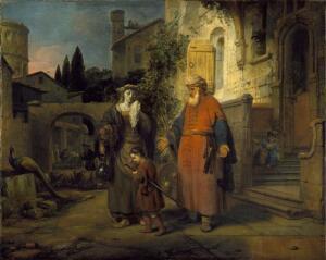Как Гербранд Ван ден Экхоут изобразил историю  Агари?