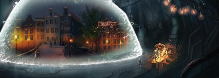 Купол времени на рисунке Давида Ревоя для фильма «Слёзы стали» 2012 г.