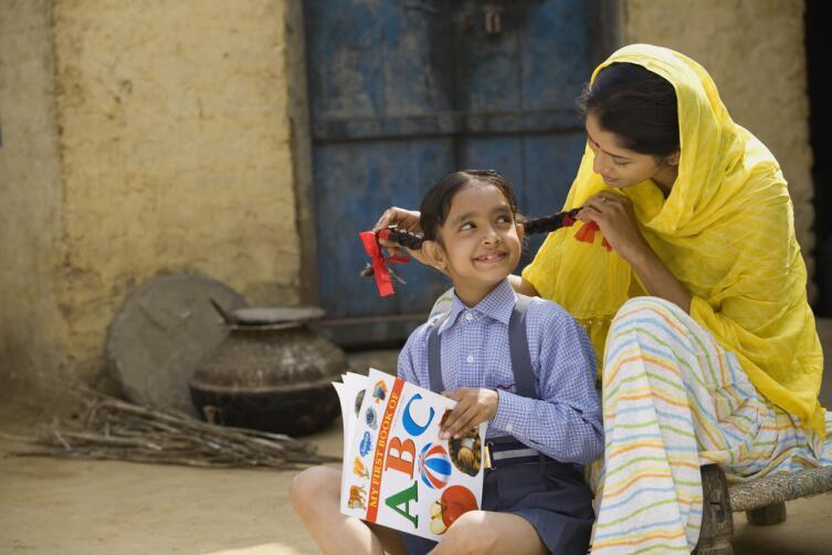 Индийские дети идут в школу уже в 3 года
