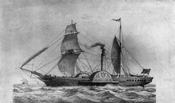 Пассажирский колесный пароход