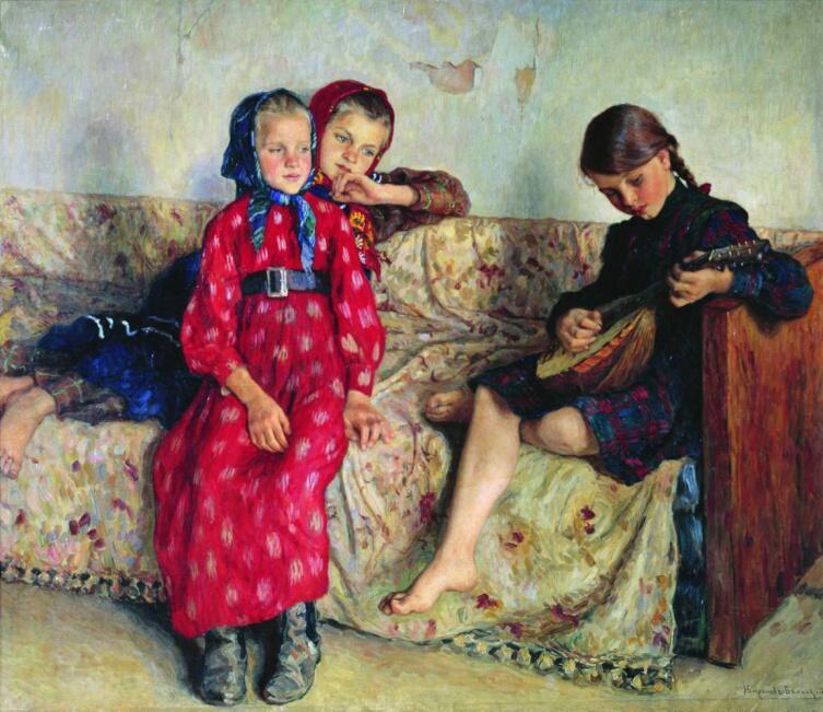 Н. П. Богданов-Бельский, «Деревенские друзья», 1913 г.