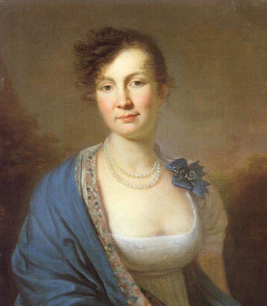 Наталья Суворова, портрет работы Молинари, 1810-е гг.