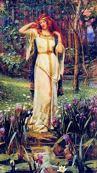 «Фрейя с ожерельем», Дж. Д. Пенроуз, ок. 1913 г.