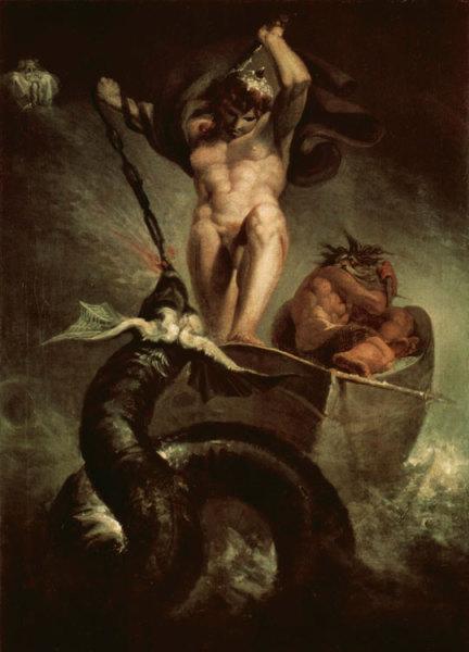Змей Йормунганд сражается с Тором