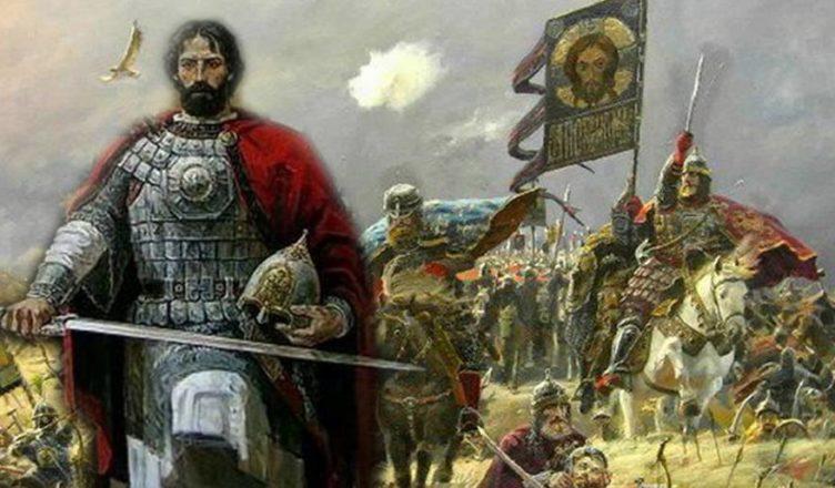 Дмитрий Донской на Куликовской битве