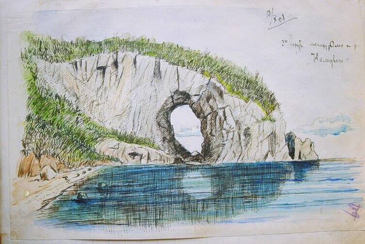 Рисунок В. К. Арсеньева из путевого дневника 1908 г.