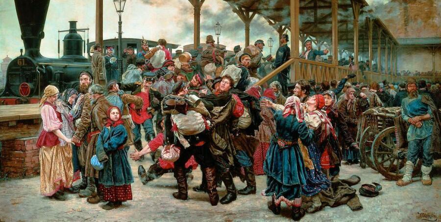 К. А. Савицкий, «На войну», 1888 г.
