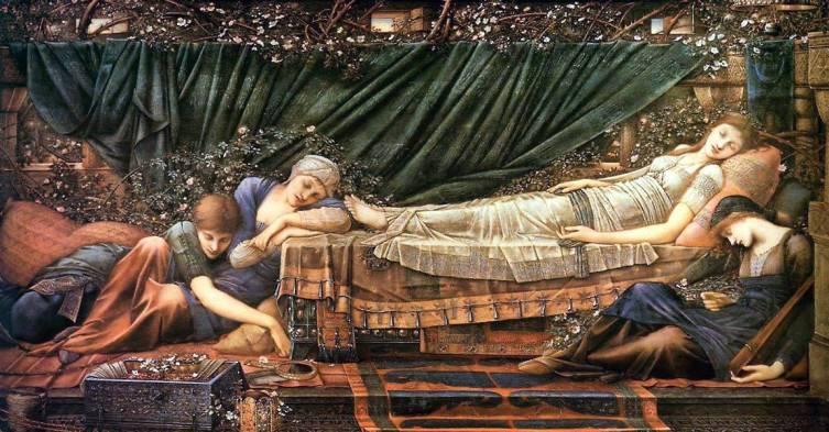 Эдвард Бёрн-Джонс, «Спящая принцесса»