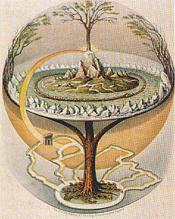 Иггдрасиль — мировое дерево в германо-скандинавской мифологии