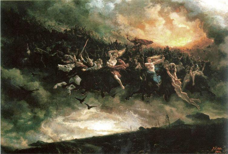 П. Н. Арбо, «Дикая охота Одина», 1872 г.