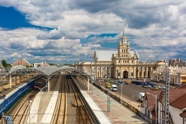 Железнодорожный вокзал г. Бреста