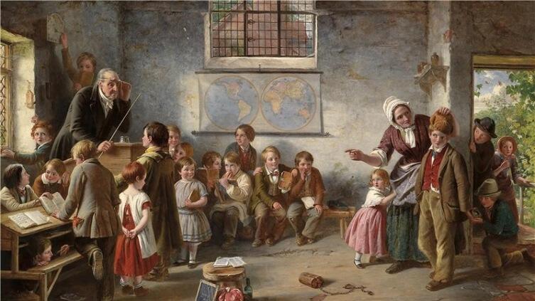 Томас Брукс, «Новый ученик», 1854 г.