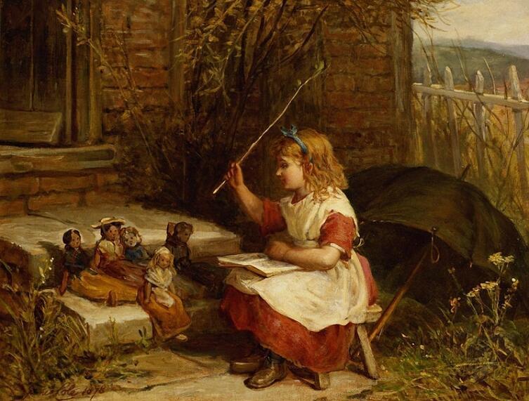James Cole, «Маленькая учительница», 1878 г.
