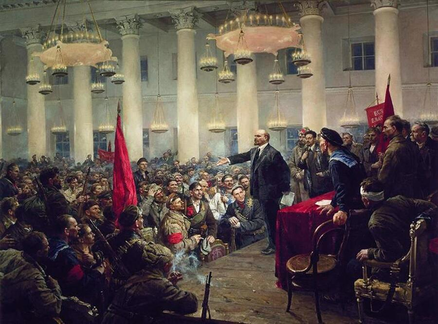 В. А. Серов, «Выступление В.И. Ленина на II Всероссийском съезде Советов», 1955 г.