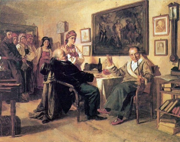Н. В. Неврев, «Торг», 1866 г.