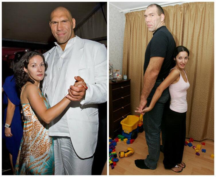 Николай (213 см) и Галина (163 см) Валуевы