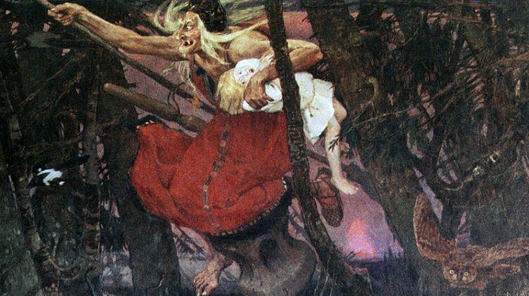 «Баба Яга», Виктор Васнецов, 1917 г.