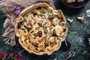 Вкусный пирог с грибами. Как приготовить?