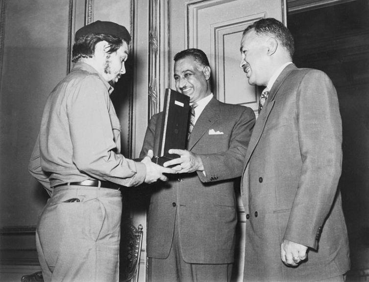 На встрече с президентом Египта Гамаль Абдель Насером, 1965 г.