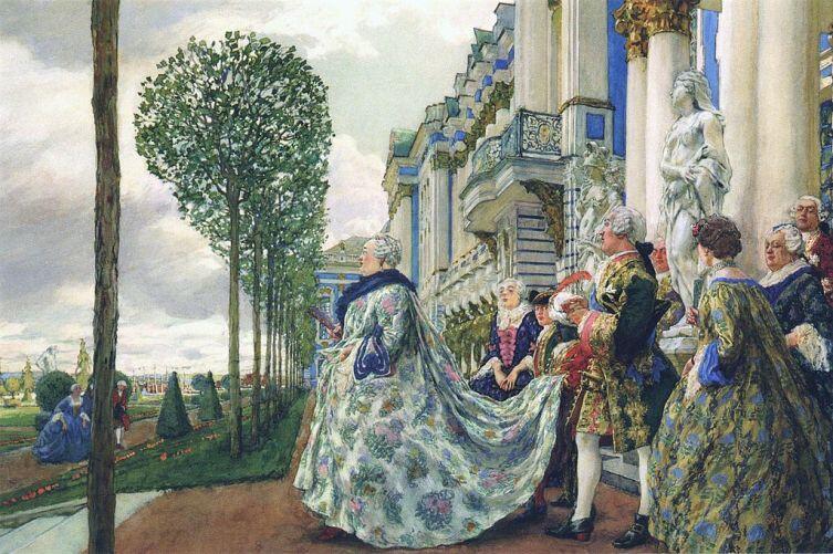 «Елизавета Петровна в Царском Селе», художник Е. Лансере, 1905г.