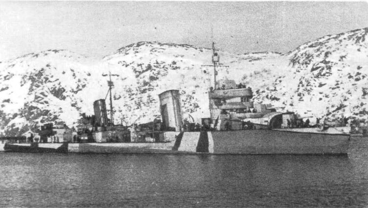 Лидер эскадренных миноносцев «Баку», 1943 год