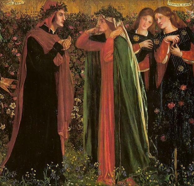 Данте Габриэль Россетти, «Приветствие Беатриче», 1859 г.
