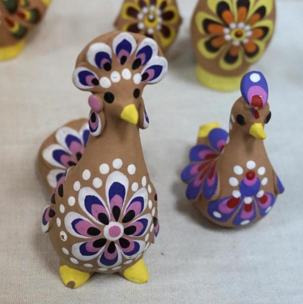 Сказочные птички, новоторжская игрушка