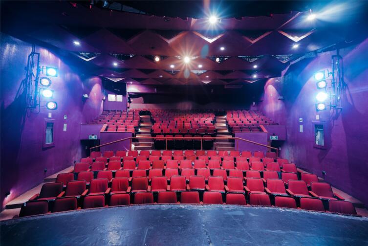 Театральный занавес не должен пропускать свет, поэтому его делают из специальной ткани