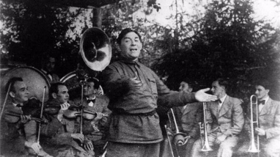 Выступление Утёсова на фронте, 1942 г.