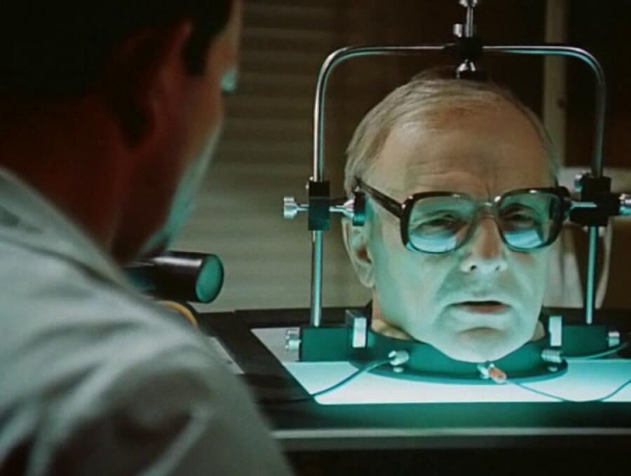Кадр из фильма «Завещание профессора Доуэля», 1984 г.