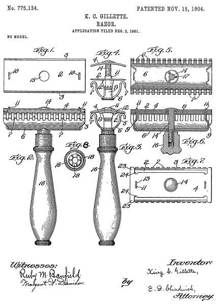 Патент Жилетта от 15 ноября 1904 г., с которого все и началось