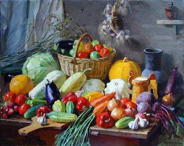 Ф. Шапаев. Овощи. 1967