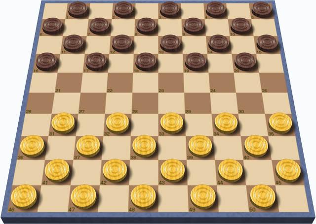 Для игры можно взять шашки и доску