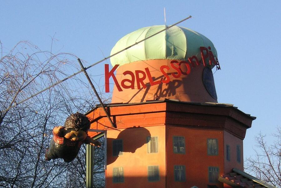 Карлсон, который живёт на крыше в стокгольмском музее Юнибаккен