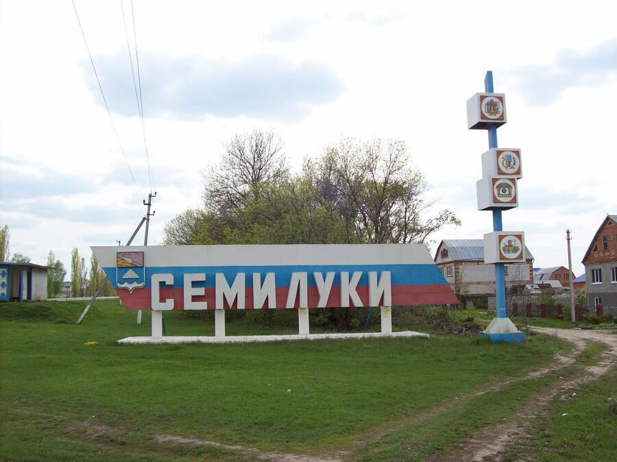 Въезд в город Семилуки со стороны села Семилуки