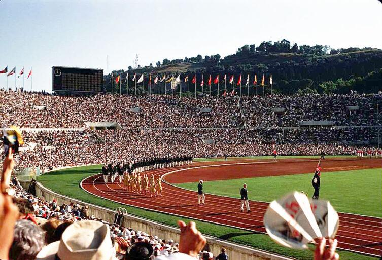 Церемония открытия Олимпийских игр в Риме 25 августа 1960 г.