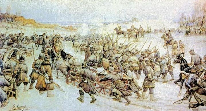 Э. Лисснер, «Битва войска Болотникова с царской армией»