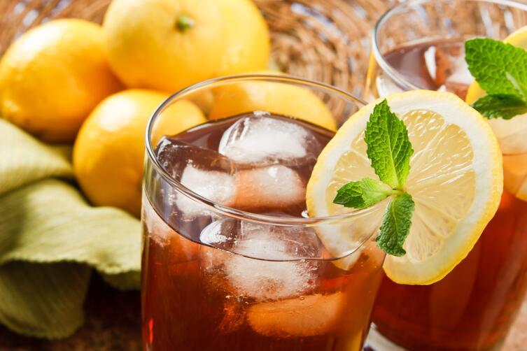 Освежающий чай со льдом