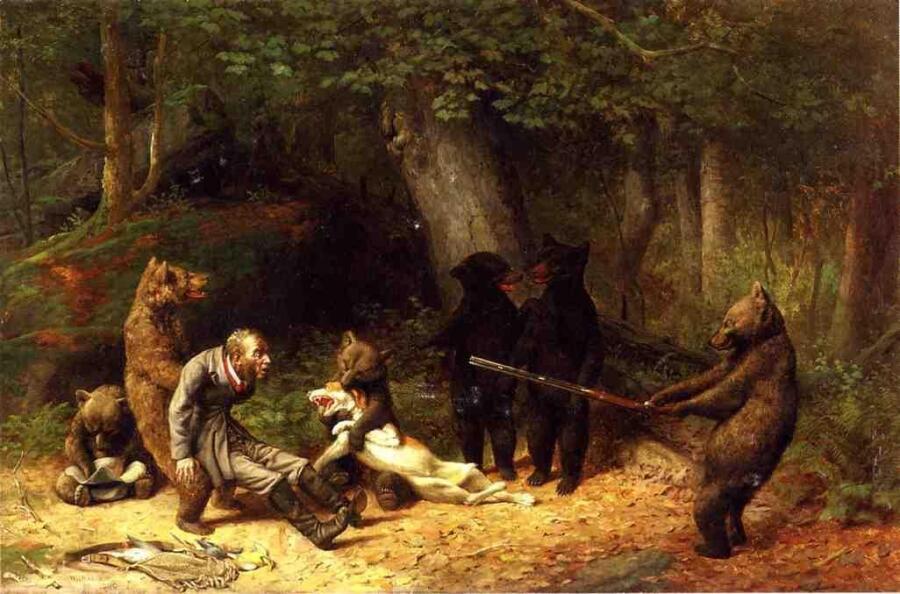 Уильям Холбрук Берд, «Игра с охотником», 1880 г.