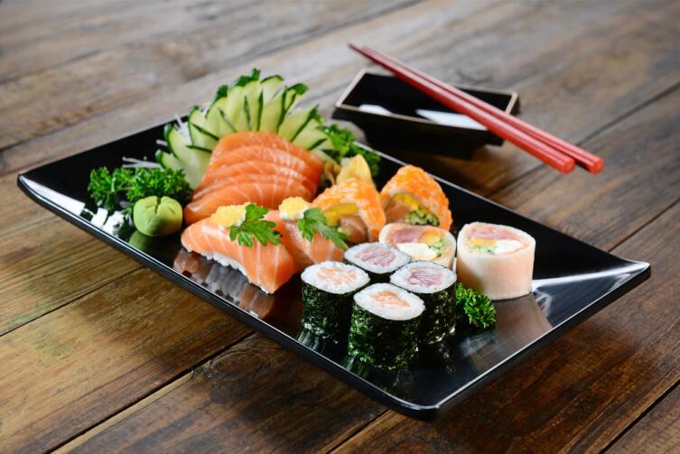 Японцы едят много морепродуктов