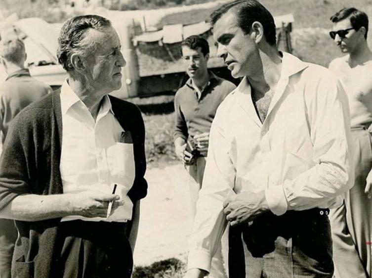 Ян Флемминг и Джеймс Бонд на съемках фильма «Doctor No»