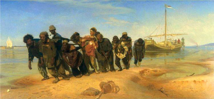 И. Е. Репин, «Бурлаки на Волге», 1870-73 гг.