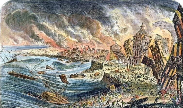 Лиссабонское землетрясение 1755 года был самым катастрофическим в истории Европы