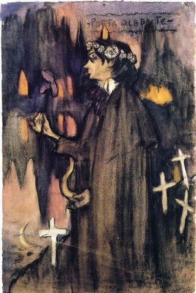 Пабло Пикассо, «Поэт декадент. Портрет Хайме Сабартеса», 1900 г.