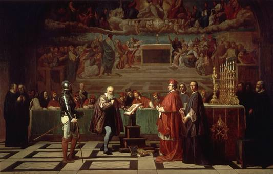 Жозеф-Николя Робер-Флёри, «Галилей перед судом инквизиции», 1847 г.
