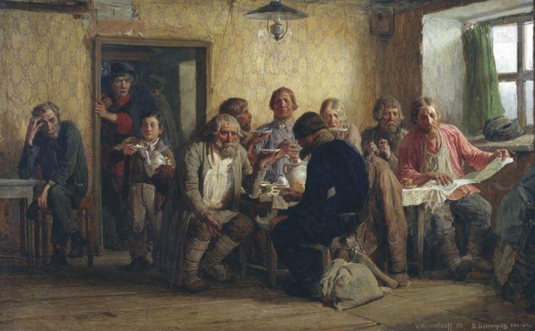 В. М. Васнецов, «Чаепитие в харчевне», 1874 г.