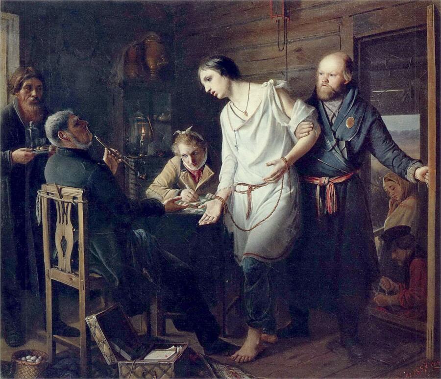 В. Г. Перов, «Приезд станового на следствие», 1857 г.